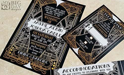 The Glittering Gatsby Wedding Invitation Sample Set