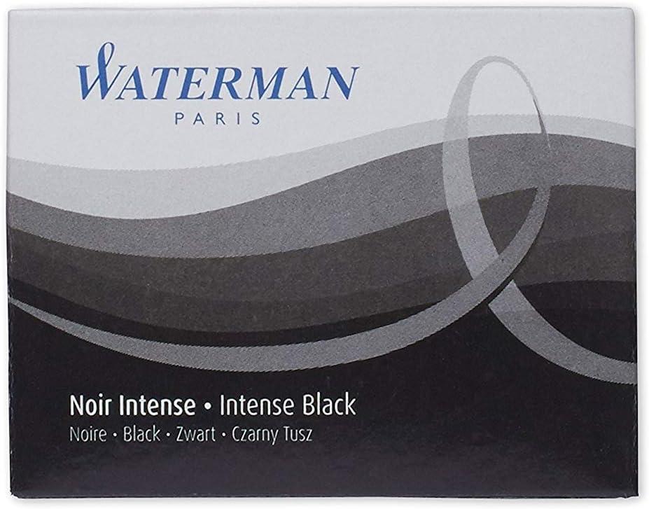 Waterman Brands Fountain Pen Ink Cartridges WATS0712991 Black 8//PK