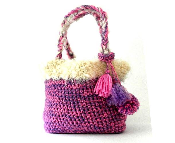Mädchen Häkeln Handtasche Gehäkelte Tasche Häkeln Mädchen Tasche