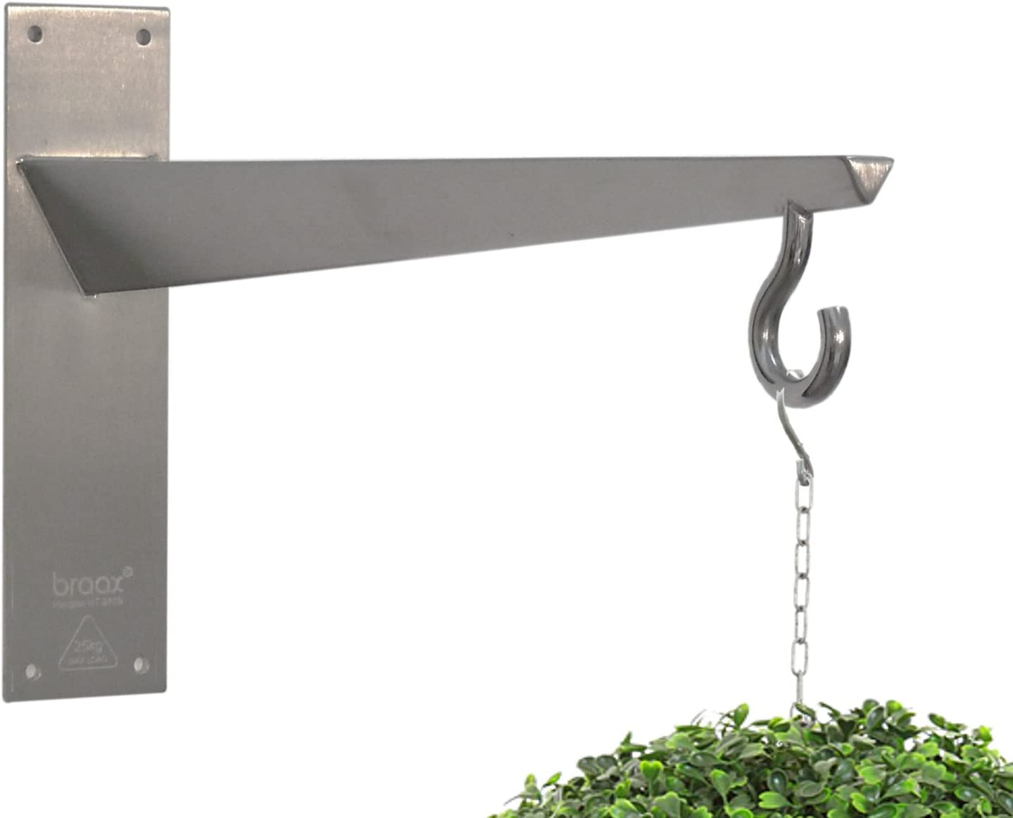 Hangtec Tetrahedron HT-2A09 - Stainless Steel Bracket for Hanging Baskets, Topiary Balls, Bird fe.