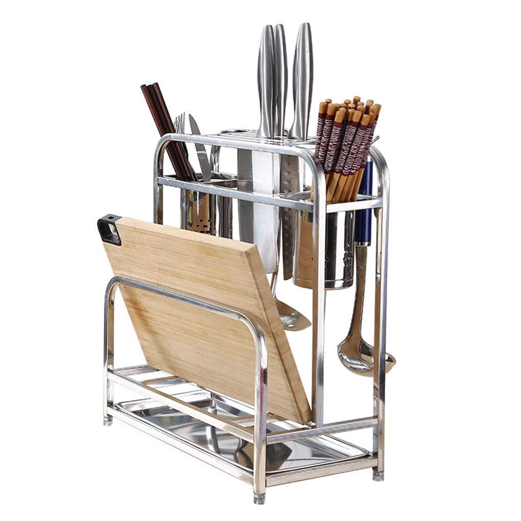 Etag/ère de cuisine Rack,porte-outils de rangement multi-usages pour porte-outils de rangement pour porte-couteaux en acier inoxydable