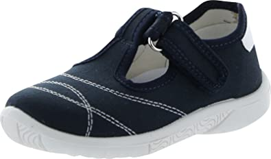Naturino Boys 7742 Canvas T Strap Casual Shoes,Blue/Bianco,24