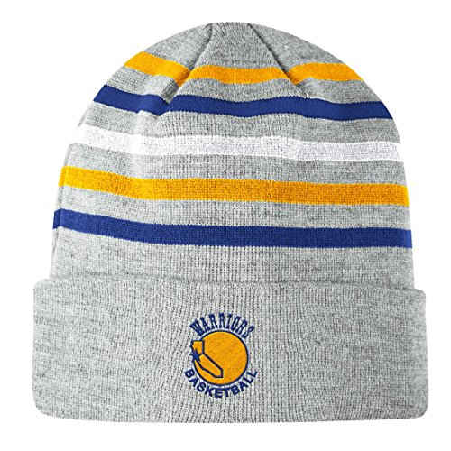 Golden State Warriors Mitchell & Ness NBA ''Team Stripes'' Cuffed Premium Knit Hat by Mitchell & Ness