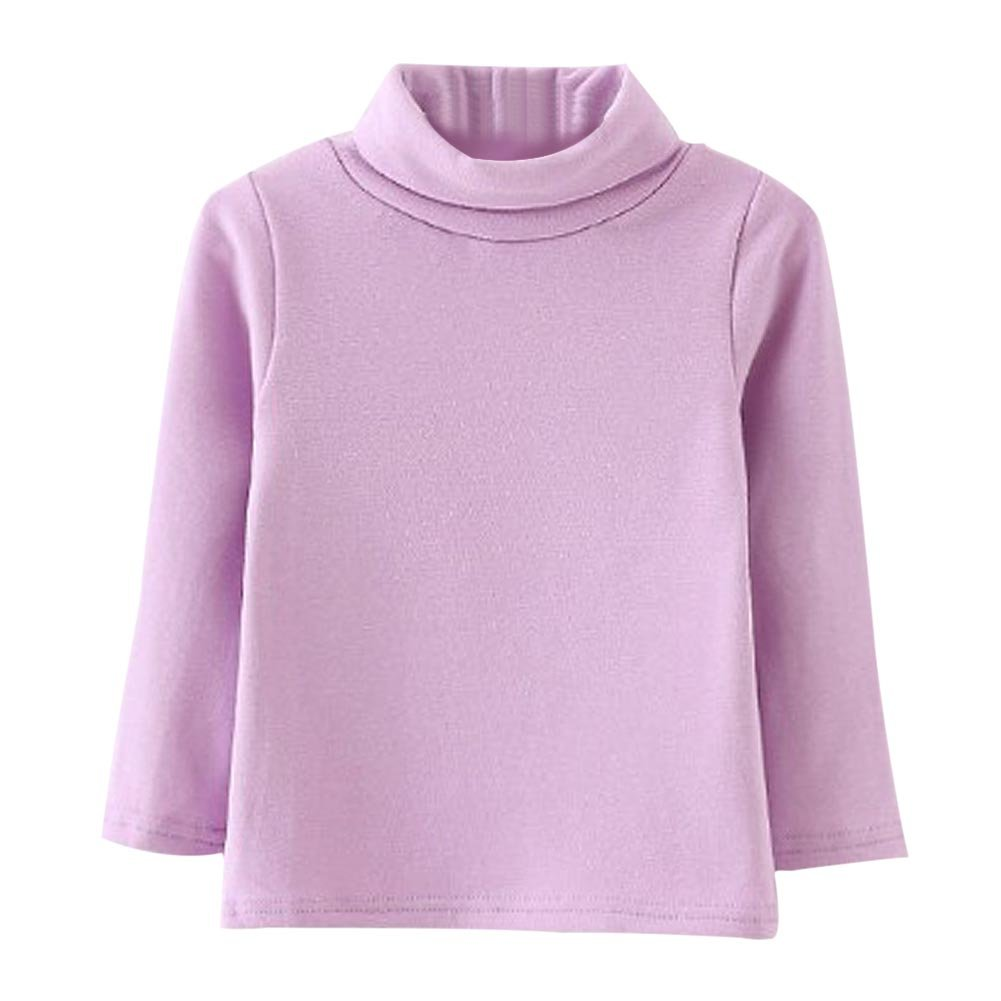 Soly Tech Baby Girl Long Sleeve Turtle Neck Basic Bottoming T-Shirts Tops Blouse