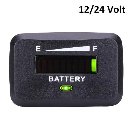 Medidor de nivel de carga de la batería. Indicador led de estado.