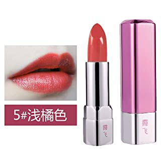 CHENYAJUAN Scivoloso Rossetto Rossetto Idratante Nessun Colore umidità Facile da Colorare Impermeabile Lip Gloss. Cinque