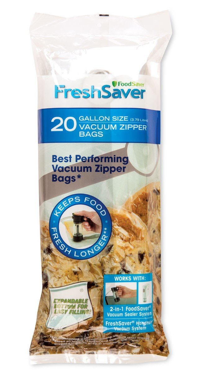 FoodSaver Freshsaver 34 Quart-sized and 20 Gallon-sized Vacuum Zipper Bags Bundle - BPA Free by FoodSaver