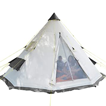 sports shoes 44fae f80e5 Skandika Tipii 6 Person Tent Festival Party Tent Teepee Wigwam | 250 cm  TALL Insect Free with sewn-in groundsheet | 3000 mm Water Column