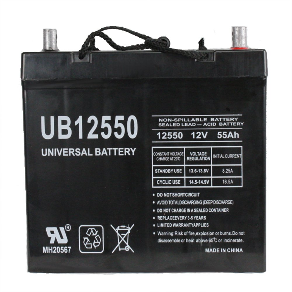 12V 55AH SLA Battery replaces 8A22NF PS-12550