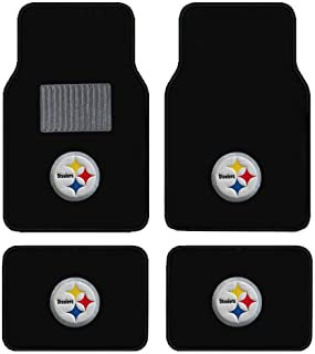 product image for Steelers Embroidered Logo Carpet Floor Mats. Wow Logo on All 4 Mats.