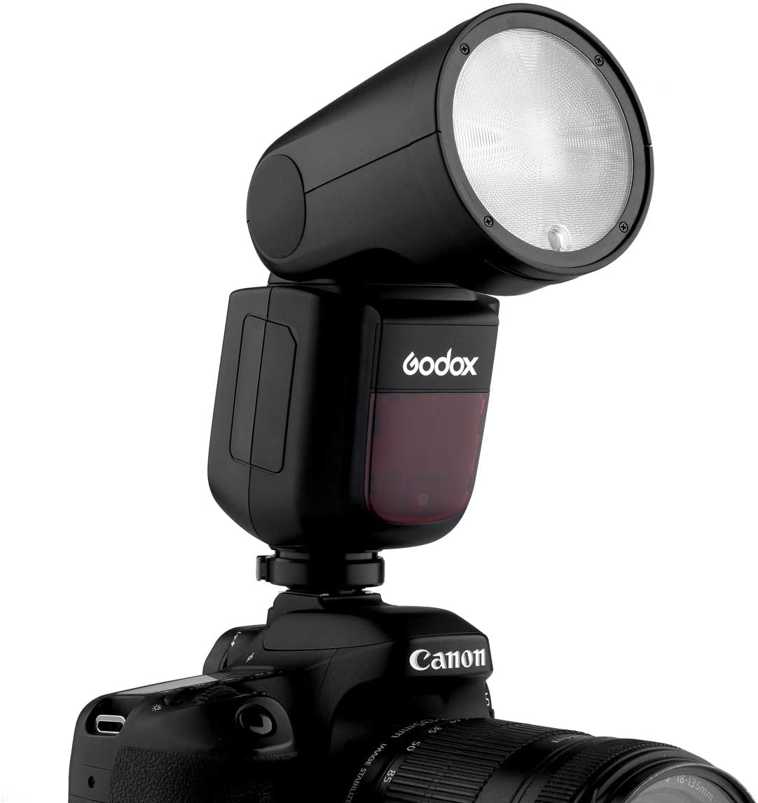Compatible for Nikon Cameras 76WS 2.4G High-Speed Sync 1//8000s Speedlight Godox V1-N TTL Flash Speedlite
