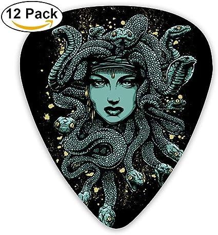 Medium Light Gorgon Medusa Mythology Celluloid Guitar Picks Unisex 12 Packs: Amazon.es: Instrumentos musicales