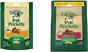 Greenies Pill Pockets 15.8 Oz. Chicken And Hickory Smoke-Flavored Dog Treats Bundle - (31.6 Oz. Total)