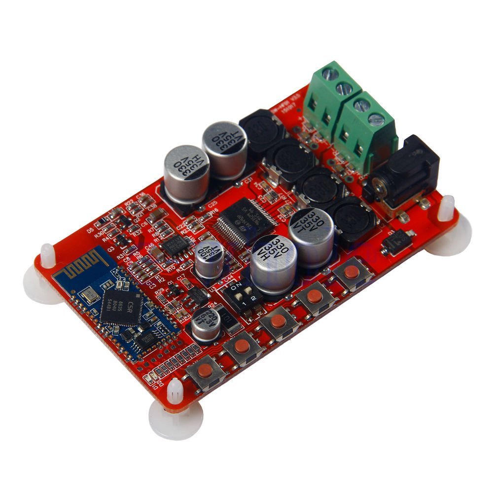 HiLetgo 50W + 50W TDA7492P 2x50 Watt Dual Channel Amplifier Wireless Digital Bluetooth 4.0 Audio Receiver Amplifier Board (Red) 3-01-1046