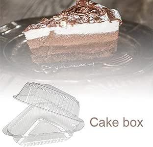 Boomboo 100PCS Caja de Pastel de triángulo de plástico, Pastel/Tarta de Queso/Rebanada de Pastel Caja de Pizza Snack Pastelería Contenedor Transparente para el hogar: Amazon.es: Hogar