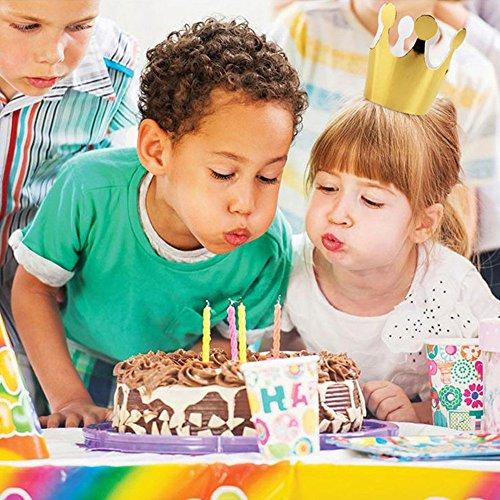NszzJixo9 10Pcs Kids Adult Birthday Hats - Cap Crown Prince Princess Party Decoration Paper, Photo Prop Sparkly Gold Crown Elastic Headbands