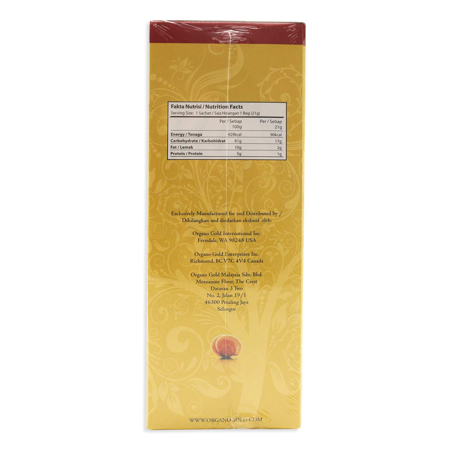 2 Boxes Organo Gold Gourmet Cafe Latte With 100 Ganoderma