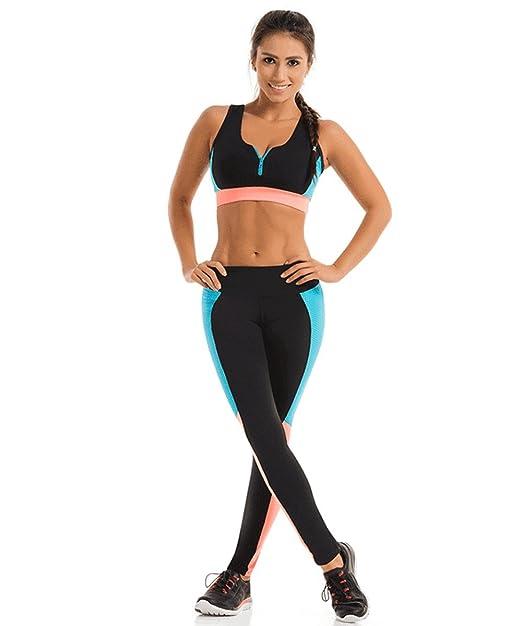 15b851c8ccea1 DoLoveY Gym Outfit Sport Suits Tracksuit Sports Bra Yoga Pants Workout  Leggings Women  Amazon.ca  Clothing   Accessories