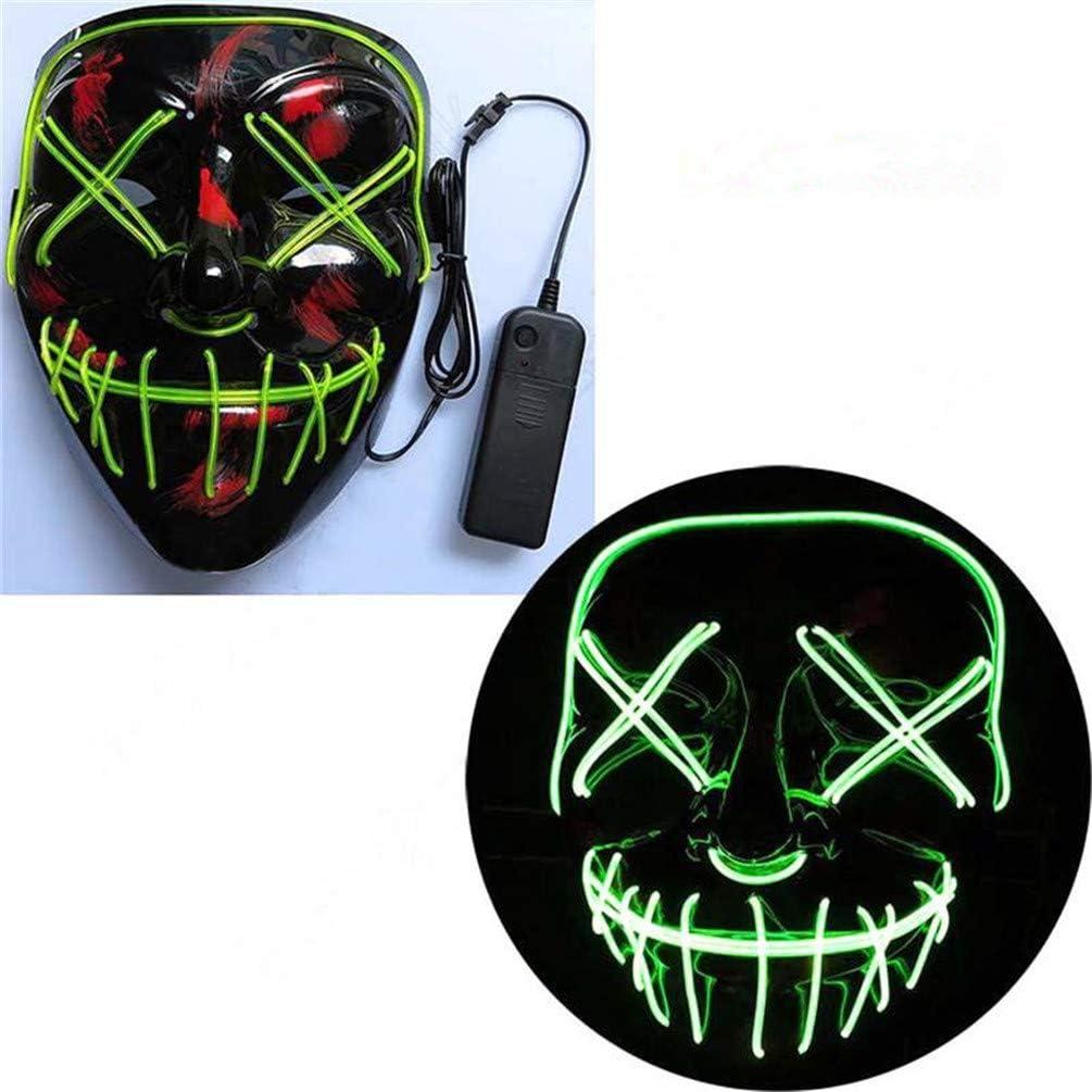 Amazon.com: TZFLEDMAS Halloween Mask LED Light Up Party ...