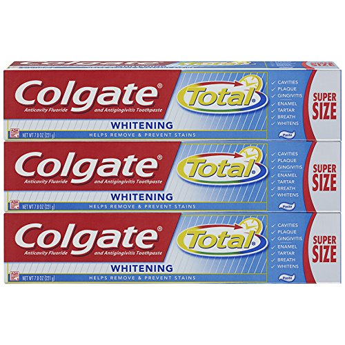 Colgate Toothpaste, Total Whitening, 7.8 oz Triple Pack (Super Size)