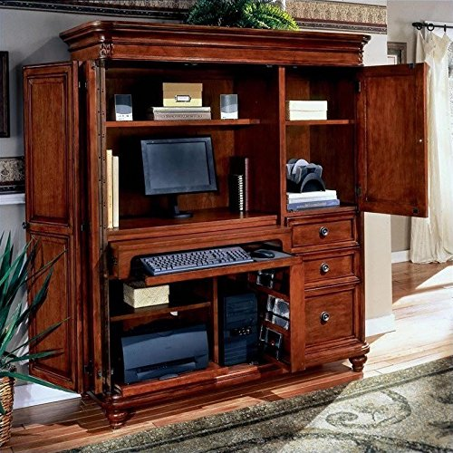 DMi Furniture DMi Antigua Wood Computer Armoire in Cherry by DMI Furniture