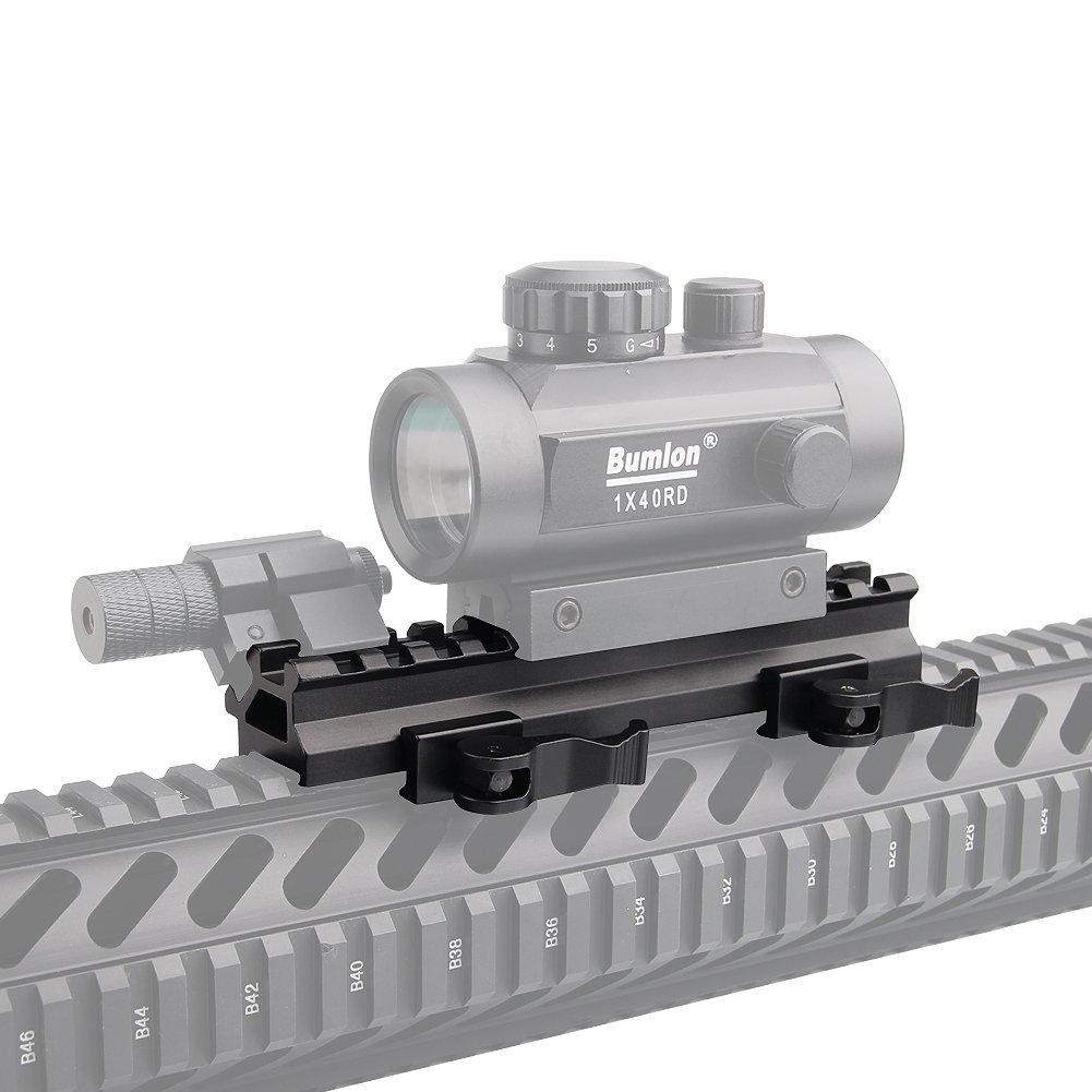 Donnagelia Montage Rail /À Angle Inclin/é /À 45 Degr/ées avec 4 Fentes Adaptateur Universel pour Style Weaver /& Picatinny Rail 20mm Et Lunette De Vis/ée