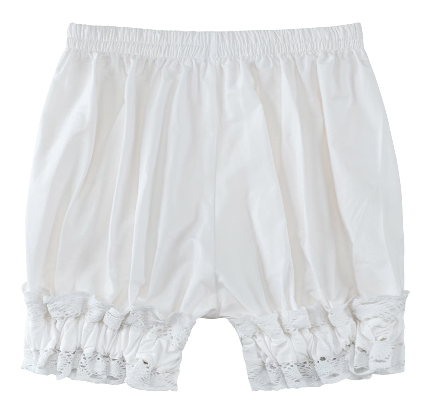 Women's Short Cotton Lace Hem Bloomers - DeluxeAdultCostumes.com
