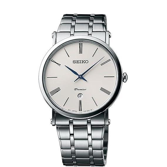 Seiko Reloj Analógico para Hombre de Cuarzo con Correa en Acero Inoxidable SKP391P1: Amazon.es: Relojes