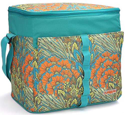 MIER 30L Extra Large Cooler Bag Outdoor Insulated Picnic Bag for Camping, Sports, Beach, Travel, Fishing by MIER