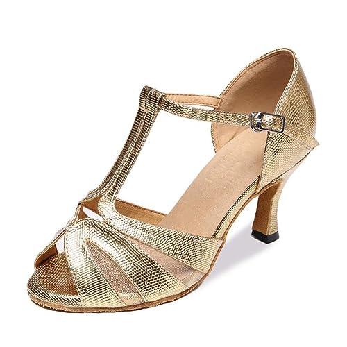 Zapatos Latinos para Mujeres Sandalias de satén/Zapatillas de ...