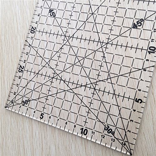 Patchwork Ruler Black High-Grade Acrylic Material Transparent Ruler Scale