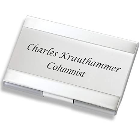 on sale 69e49 62fce Personalized Silver & Satin Business Card Case Holder Engraved Free