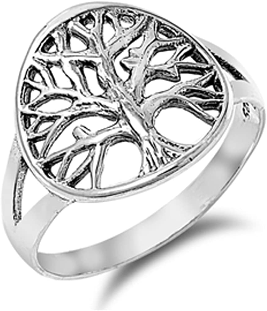 Oxidized Filigree Om Sign Fashion Ring New .925 Sterling Silver Band Sizes 4-9