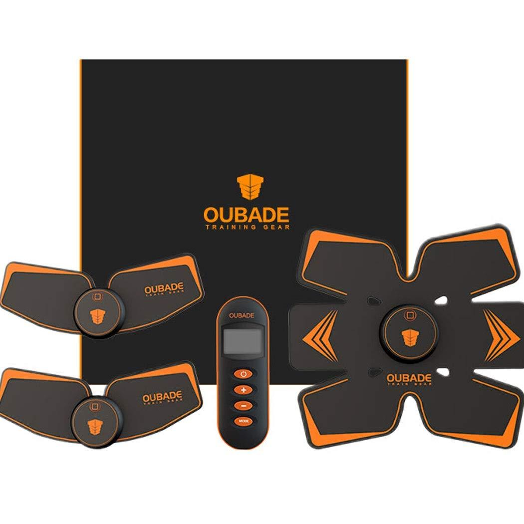 腹部筋肉ステッカー充電式スマートフィットネス機器ホームエクササイズ筋トレナー怠惰な運動を減らす腰腹部腹部腹部  Orange B07QJ5W1NN