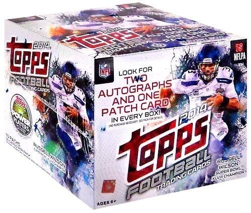 1 (One) Box - 2014 Topps Football Jumbo Box (10 Packs per Box) - Possible Johnny Manziel, Jadeveon Clowney, Blake Bortles, and/or Marqise Lee Rookie Cards!!! by Topps