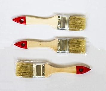 Flachpinsel Chinaborste 75 mm Lackierpinsel Lasuren Maler Pinsel rot 12 St