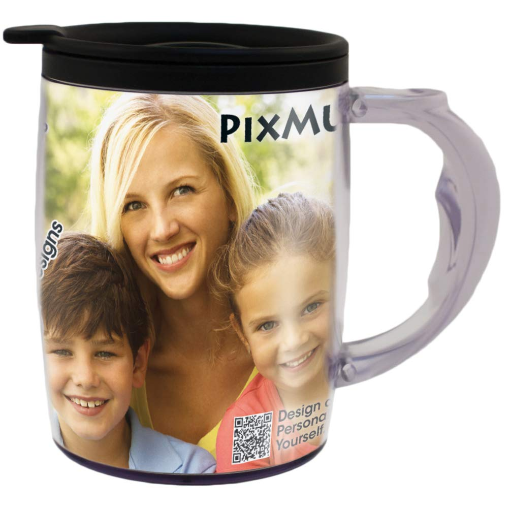 PixMug with Handle - 24 Pack - Photo Mug – The Mug That's A Picture Frame - DIY - Insert your own photos or designs – 15 oz with spill proof top by PixMug (Image #2)