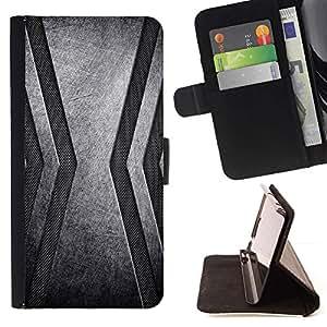 For Samsung Galaxy E5 E500 Case , Acero inoxidable- la tarjeta de Crédito Slots PU Funda de cuero Monedero caso cubierta de piel