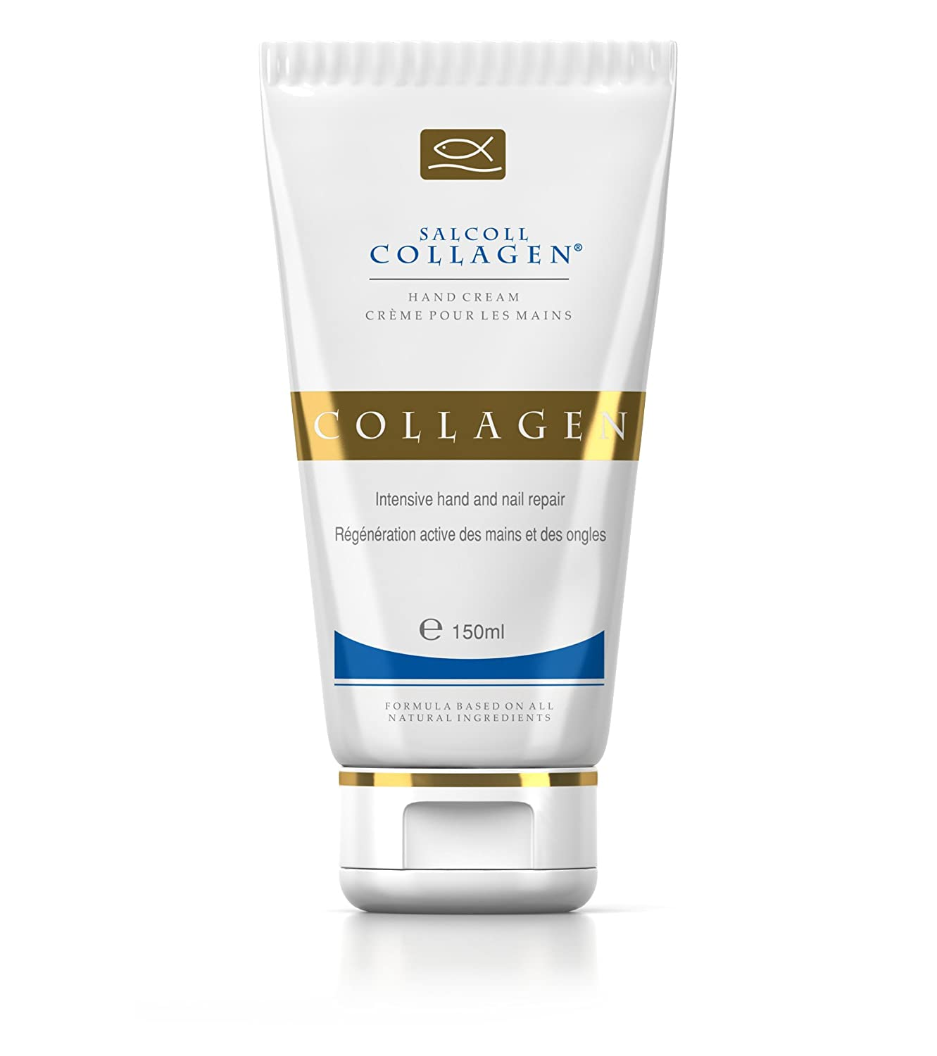 SALCOLL COLLAGEN Anti-Aging Moisturizing Hand Cream - Hypoallergenic With Potent Bioactive Collagen To Protect Heal & Assist In Skin Regeneration For Younger Looking Hands - For All Skin Types -150 ml
