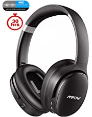 Mpow H10 Dual-Mic Active Noise Cancelling Headphones [2019 Edition], Bluetooth Headphones Over Ear with Hi-Fi Deep Bass, CVC 6.0 Microphone, Soft Protein Ear Pads, Wireless Headphones for PC/Phones