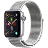 Apple Watch Series 4 40mm GPS Smartwatch with Seashell Sport Loop (Silver Aluminum Case)
