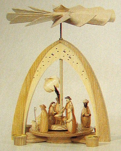 Dregano Holy Arch Christmas Carousel Pyramid Made in Germany by Dregano