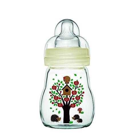 Mam - Botellas de vidrio, 170 ml, 0-6 meses Tipo de flujo