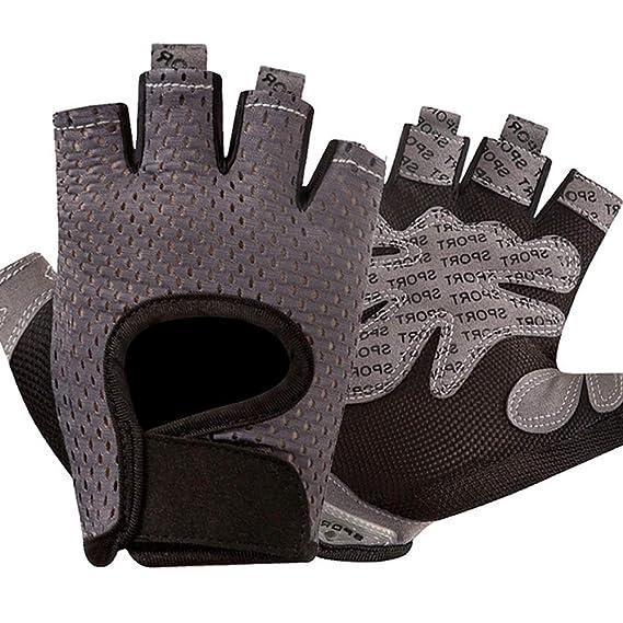 Guantes deportivos Guantes de levantamiento de pesas con ventilación, protección completa para la palma y agarre adicional. Ideal para pull-ups, ...