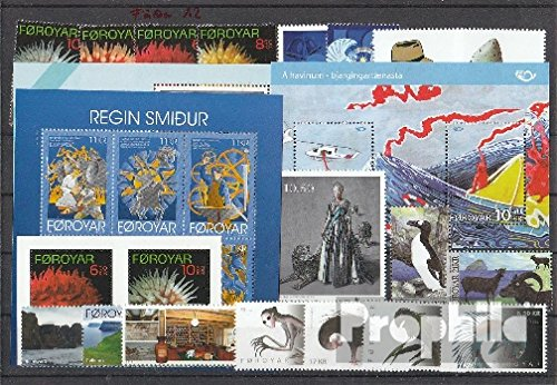 Denmark - Faroe Islands 2012 Complete Volume in Clean Conservation (Stamps for Collectors)