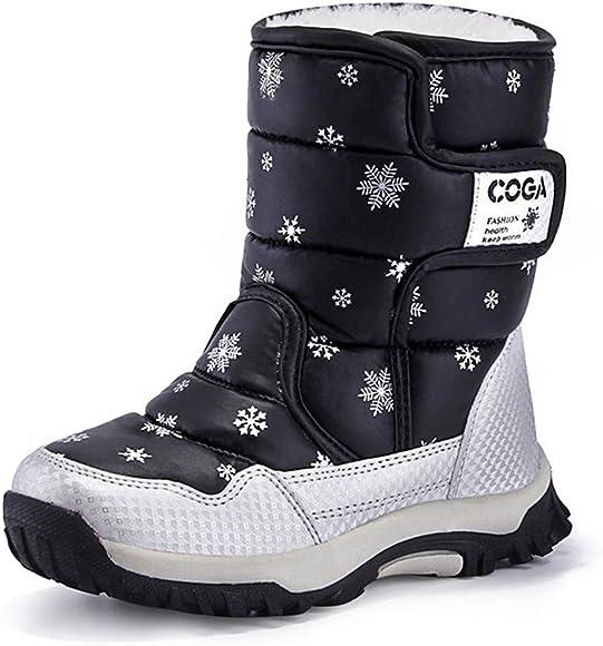 Kids Winter Snow Boots Girls Warm Boots