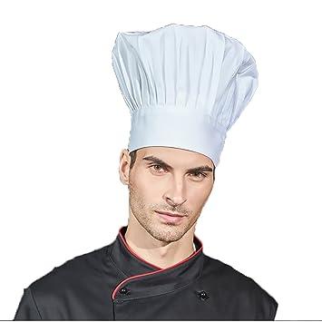 lissomplume algodón Gorro de cocinero cocina Gorro Gastro gorros Chef Hat  Campana 62ae83d745f