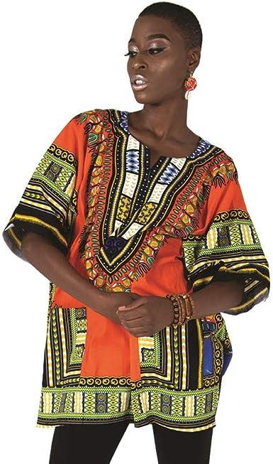 Camisa/camiseta de Dashiki con estampado africano, unisex ...
