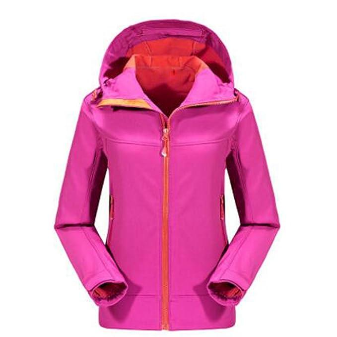 Softshell Chaquetas Mujeres Deportes Al Aire Libre Mountain Wear Softshell Warm Windproof Waterproof Fleece: Amazon.es: Ropa y accesorios