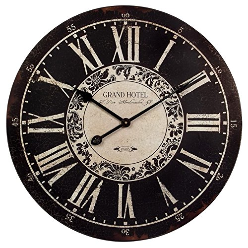 Imax Corporation Hotel Wall Clock in Black and White from Imax